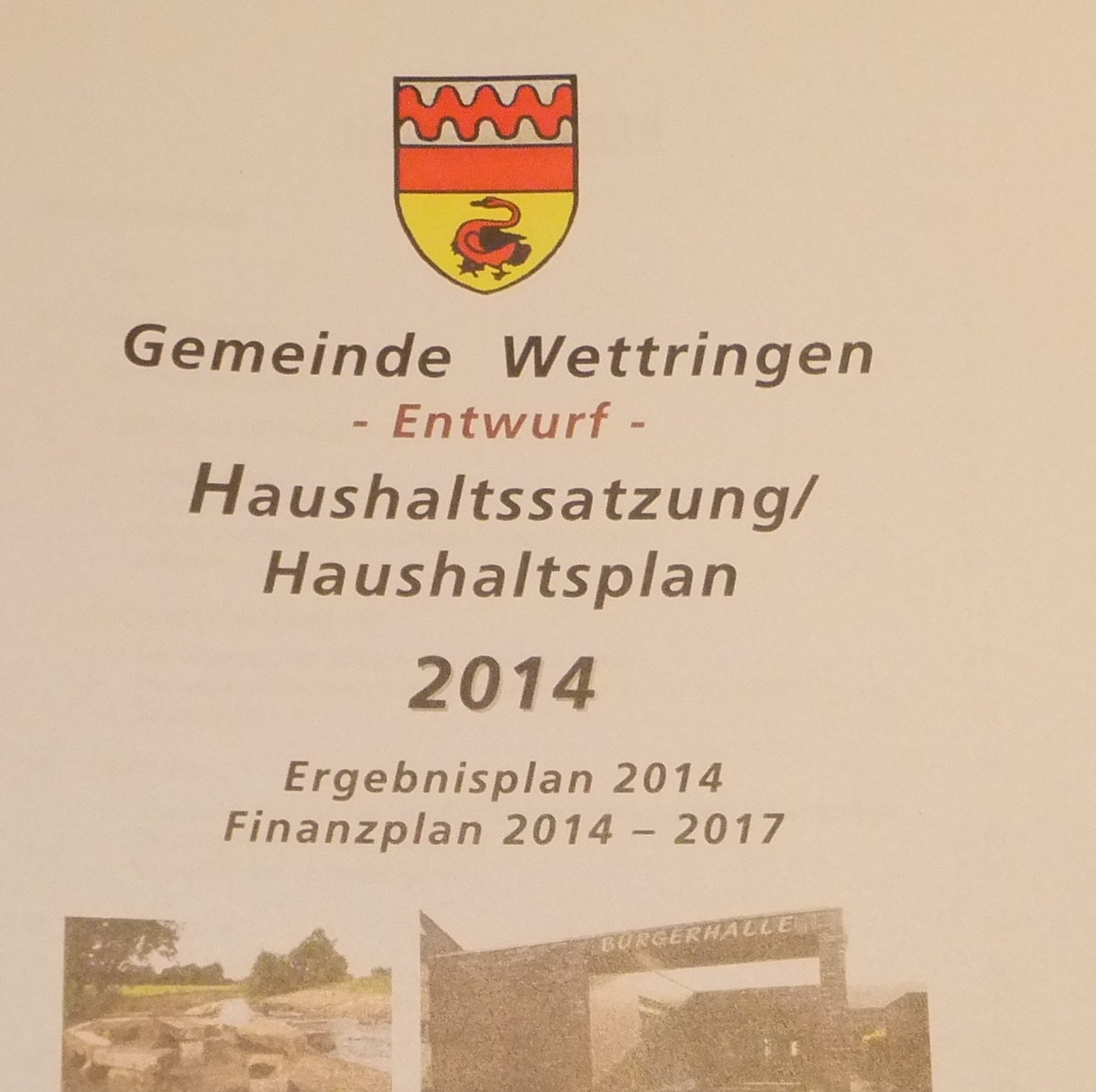 Stellungnahme zum Haushalt 2014