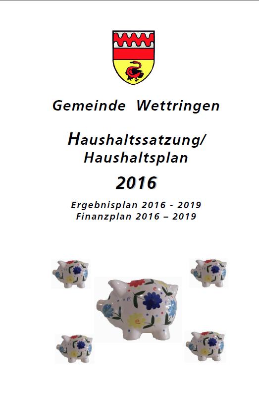 Stellungnahme zum Haushalt 2016
