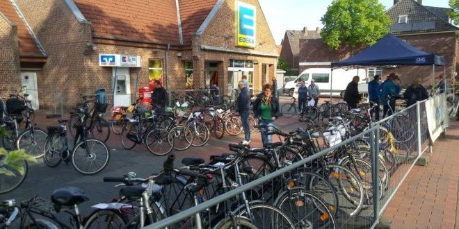 Fahrradflohmarkt der UWG Wettringen im Jahr 2018