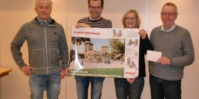 Spende für die Initiative Spielplatz Rothenberge
