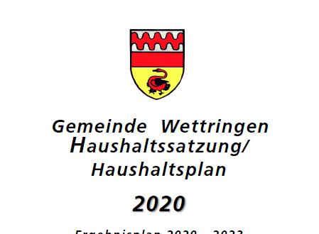 Stellungnahme zum Haushalt 2020